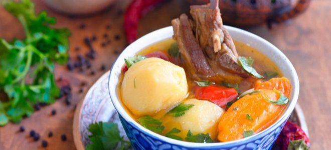 шурпа классический суп из баранины рецепт