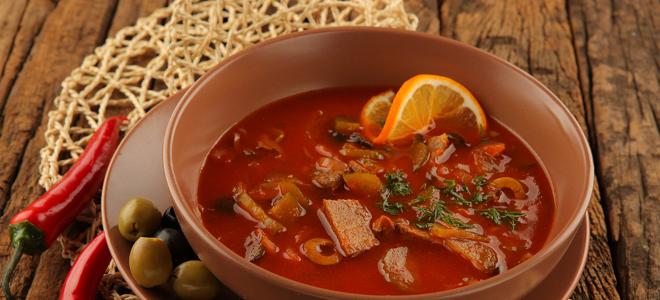 солянка с почками классический рецепт