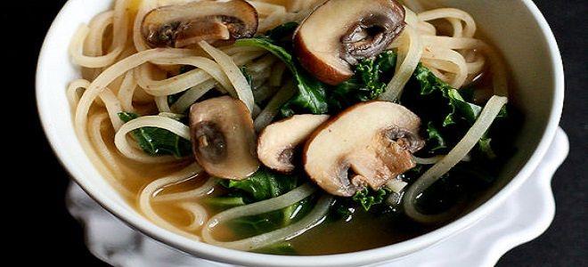 Суп грибной из замороженных грибов с вермишелью