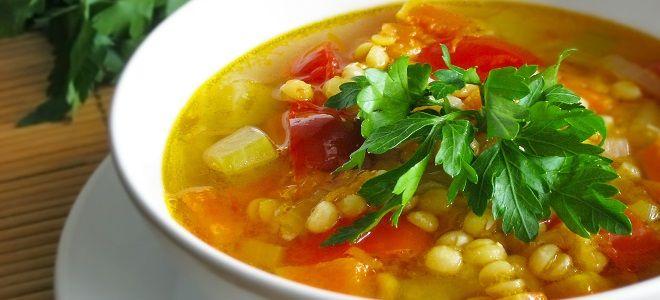 суп из гороха и чечевицы постный