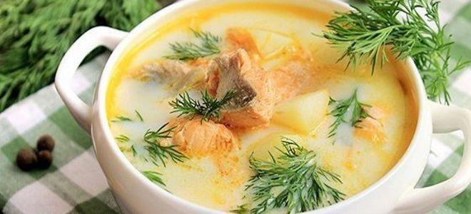 суп из красной рыбы