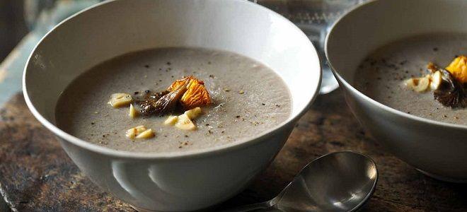 Суп пюре грибной из замороженных грибов