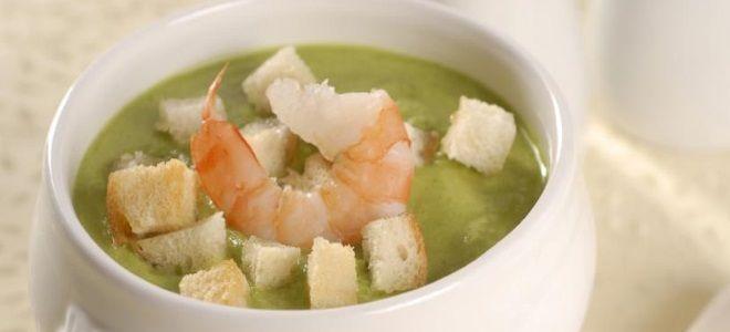 суп пюре из брокколи с креветками рецепт