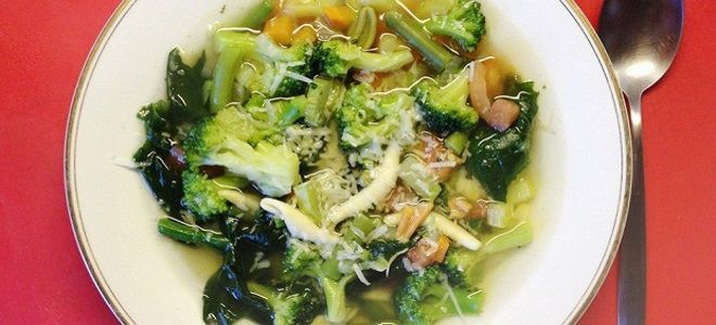 суп с брокколи и шпинатом рецепт