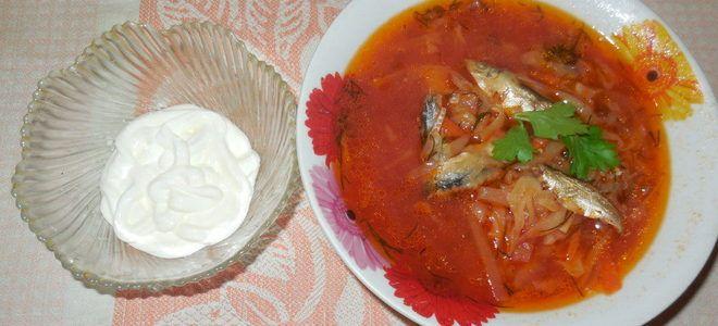 суп с килькой в мультиварке