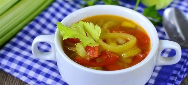 суп с сельдереем стеблевым рецепт