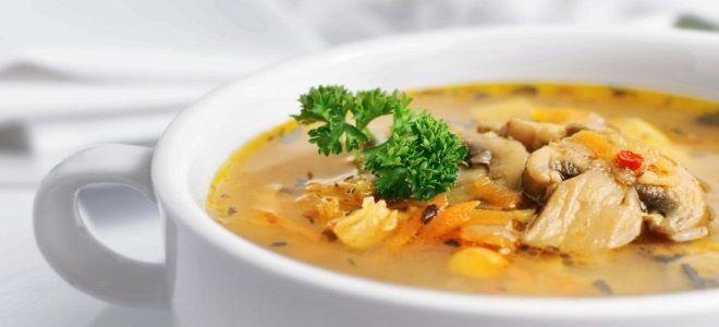 суп с шампиньонами и картофелем рецепт