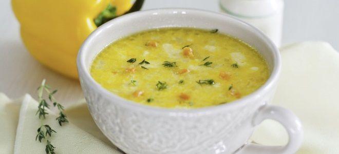 Сырный суп с плавленным сыром с курицей