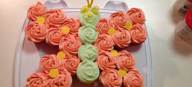 Торт для девочки с бабочками