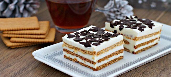 торт из детского крекера