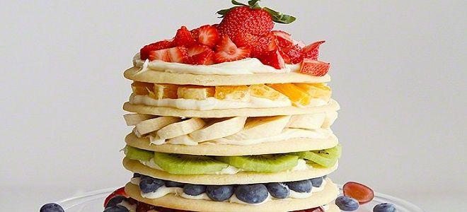 Торт маме с фруктами