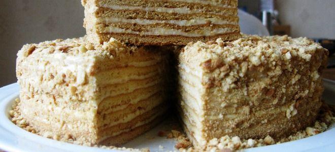 торт медовик с заварным сметанным кремом