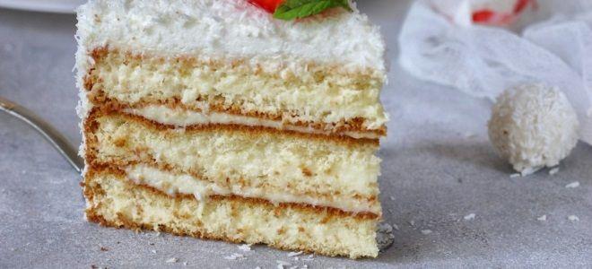 Торт «Рафаэлло» мягкий и очень вкусный