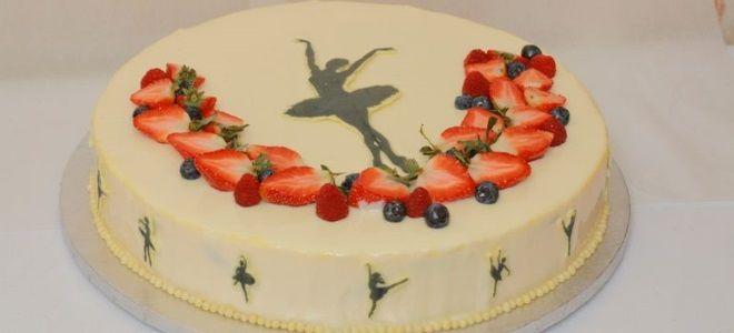 Торт с балериной для девочки