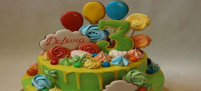 Торт с пряниками для девочки