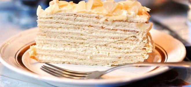 Торт сметанный - вкусный рецепт