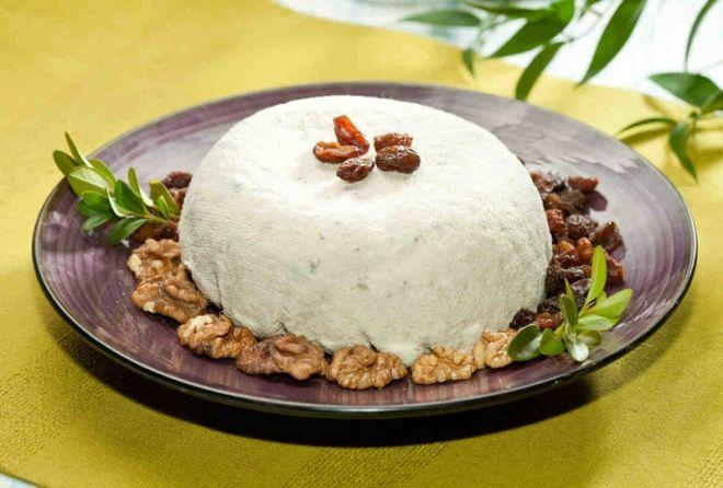 творожная пасха с изюмом и орехами рецепт
