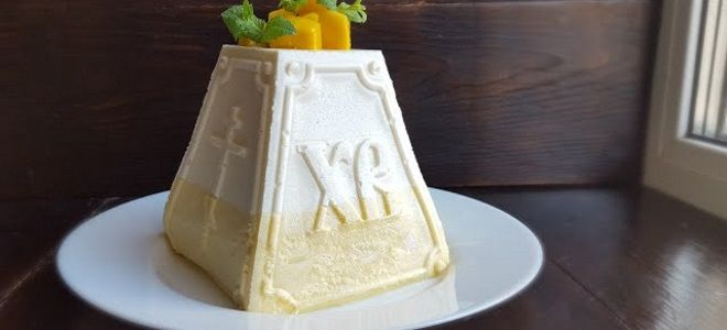 творожная пасха с желатином