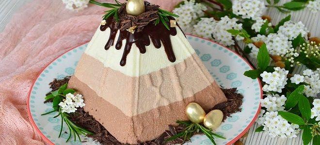 Творожная пасха три шоколада - рецепт без яиц
