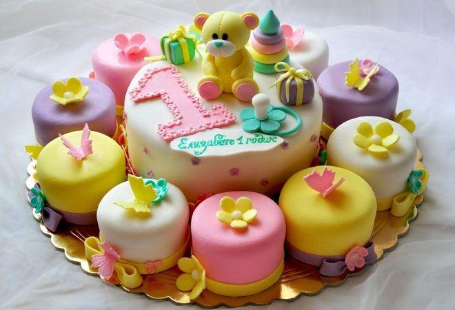 Украшение детского торта мастикой