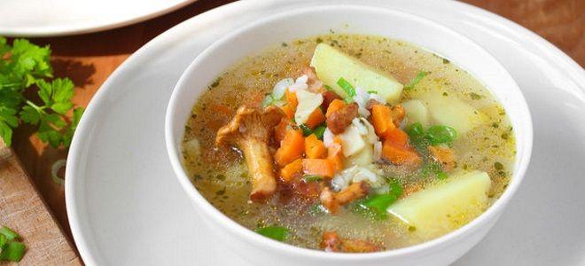 вегетарианский грибной суп рецепт