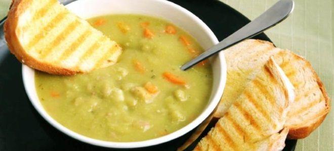 Вкусный постный гороховый суп
