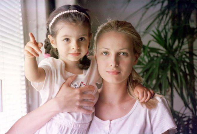 Агнешка Котлярская с дочерью