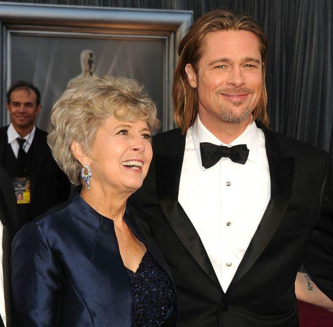 Брэд Питт с мамой