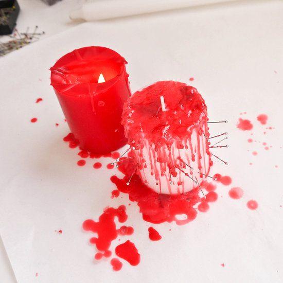 кровавые свечи для хэллоуина