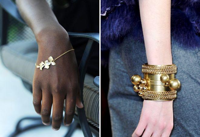 Как носить золотые браслеты фото