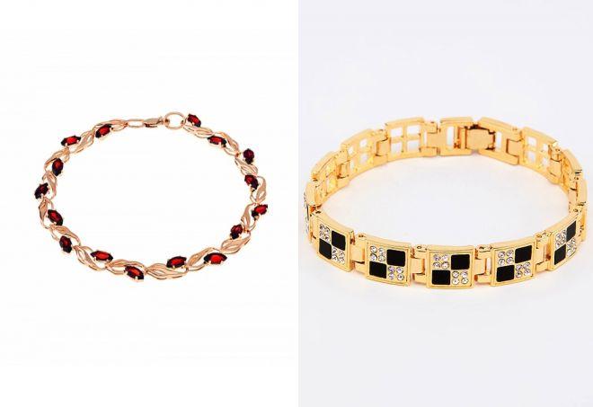 купить тонкий золотой браслет на руку