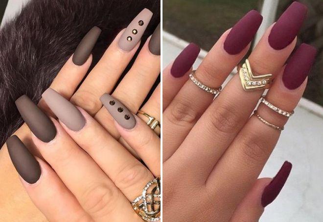 Черный маникюр матовый 2017 модные тенденции