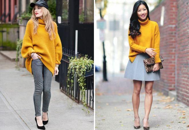 свитер горчичного цвета