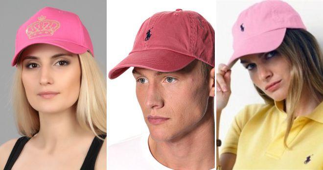 Розовая кепка поло