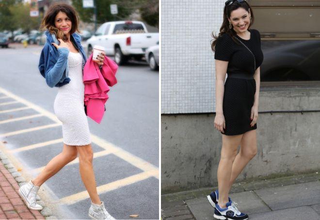 С какой обувью носить обтягивающее платье