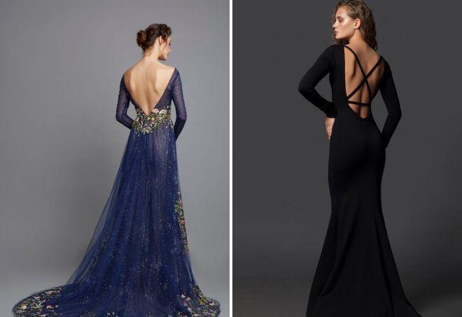 Платье с длиной спиной