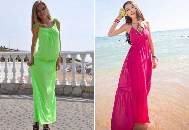 модные сарафаны в пол