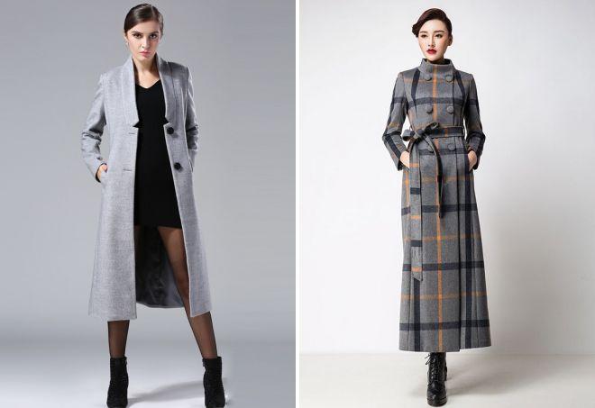 длинные кашемировые пальто