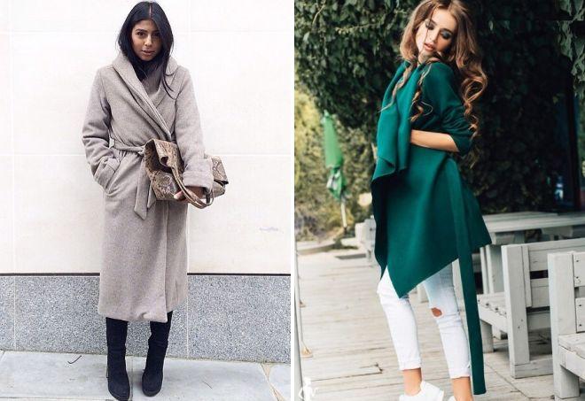 пальто халат из кашемира
