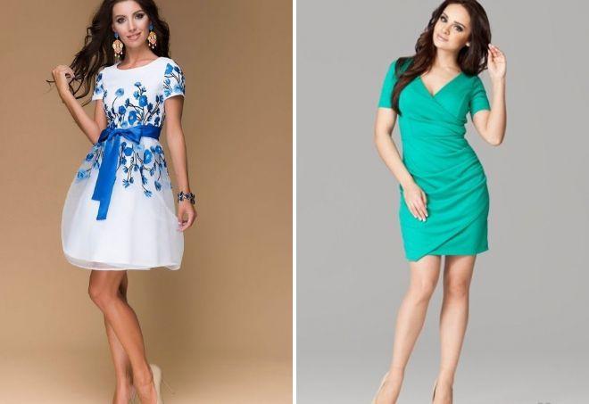 короткие шифоновые платья 2017