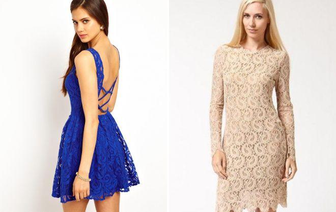 кружевное короткое платье 2017