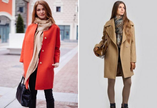 луки с пальто 2017