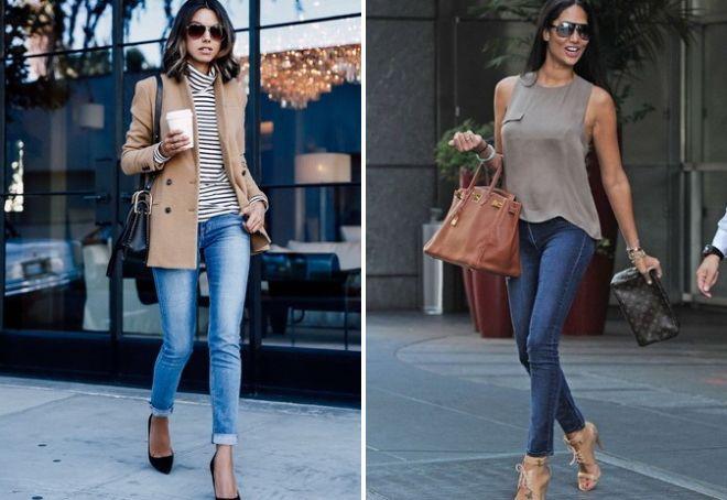 модные луки с джинсами 2017