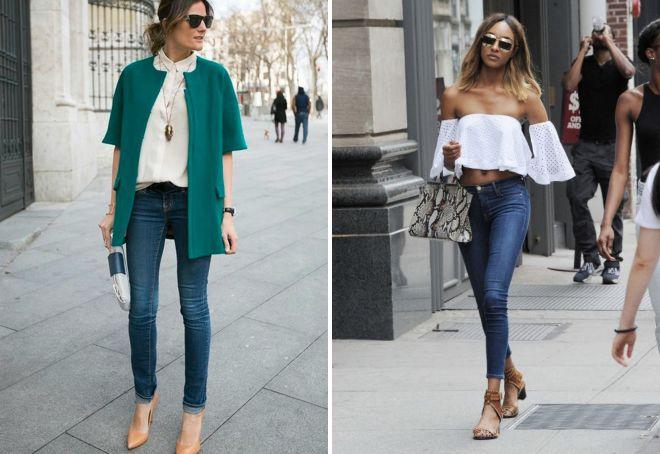 женские образы с джинсами 2017