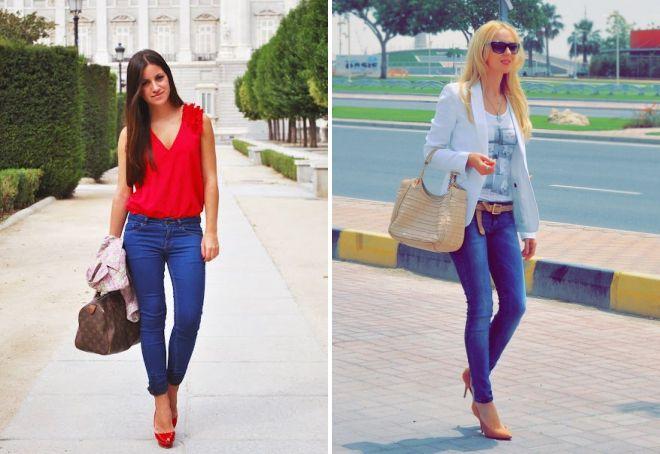 обувь под синие джинсы