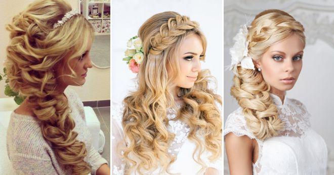 Свадебные прически с плетением фото на средние волосы
