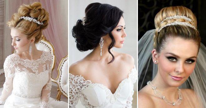 Прическа для длинных волос для невесты