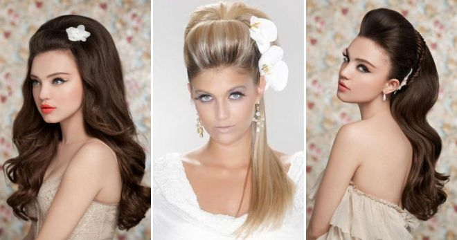 Свадебные причёски с начёсом