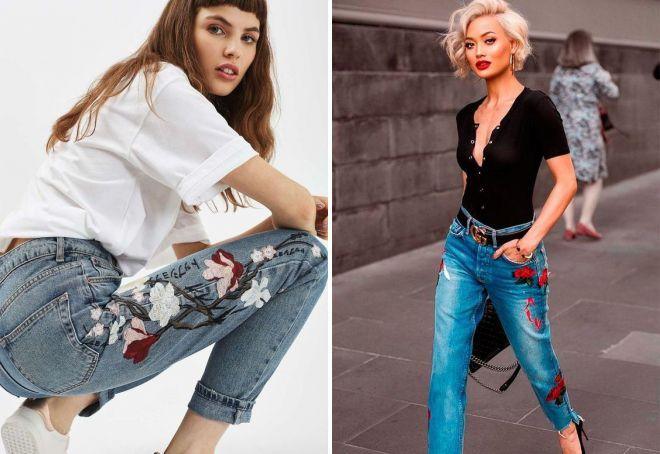 Блузки с джинсами 2017
