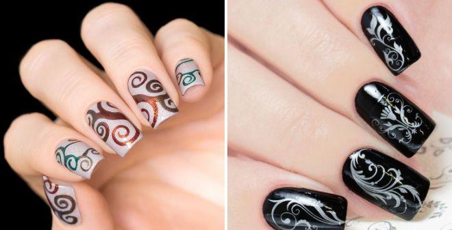 трафареты для росписи ногтей